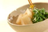 長芋と水菜のサッと煮の作り方2