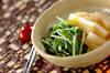 長芋と水菜のサッと煮