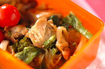 鶏もも肉と菜の花のマヨソース