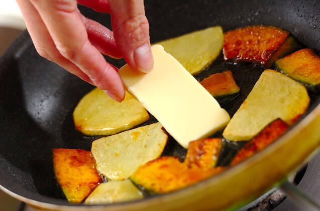 カボチャとジャガイモのソテーの作り方の手順2