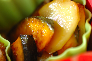 カボチャとジャガイモのソテー