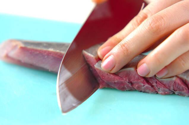 お刺身の梅肉ソースかけの作り方の手順1