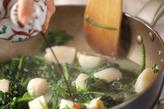 ホウレン草とホタテの炒め物の作り方2