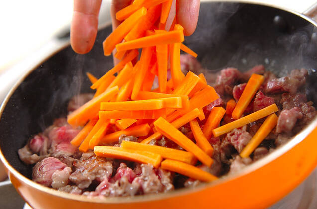 牛肉の甘辛煮の作り方の手順5