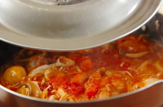 チキンのトマト煮込みの作り方の手順3