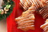 クリスマスツリーの形のリンゴケーキの作り方の手順