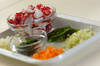 タコとトマトの煮込みパスタの作り方の手順1