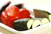 夏野菜のオーブン焼きの下準備1