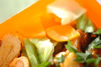 レンジ蒸し野菜のユズ風味
