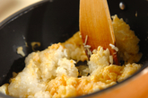 ホタテとカニのお手軽チャーハンの作り方2