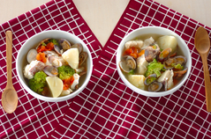 魚介のサフランスープ