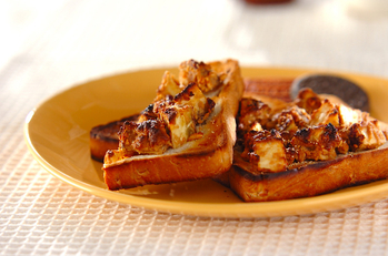 干し芋のピーナッツトースト