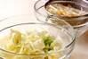 キャベツのレンジ蒸しの作り方の手順1