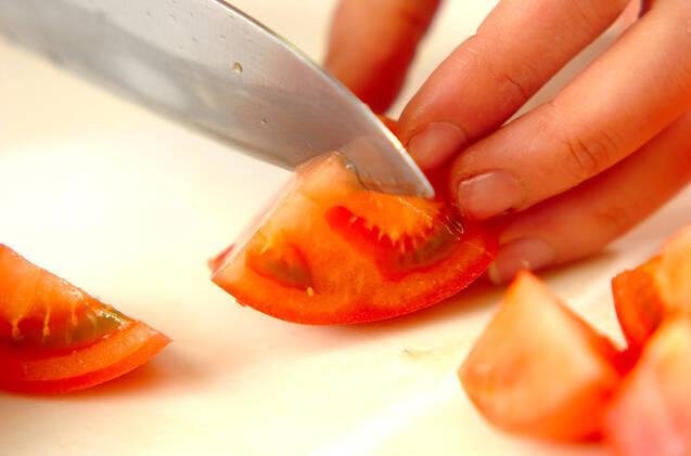 トマトのショウガドレッシング和えの作り方の手順1