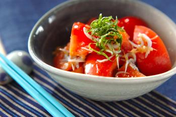 トマトのショウガドレッシング和え