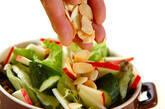 散らしアーモンドのサラダの作り方7