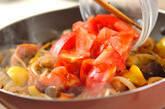 ナスとソーセージのチーズ炒めの作り方2