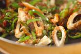 ピーマンの梅ジャコ炒めの作り方3
