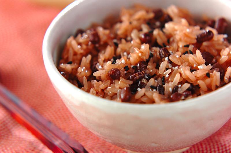 2. 炊飯器で赤飯