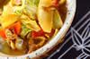 白菜のカレー煮の作り方の手順