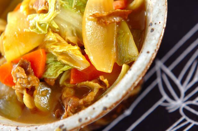 白菜のカレー煮