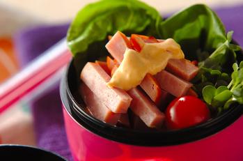 焼豚サラダごはん