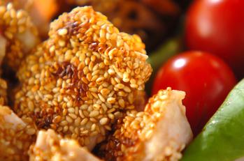 鶏もも肉のカリッとゴマ焼き