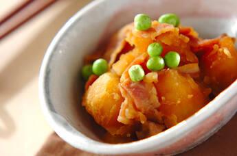 ジャガイモとベーコンの甘煮