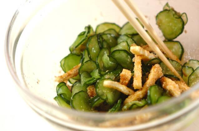 キュウリのゴマ酢和えの作り方の手順4