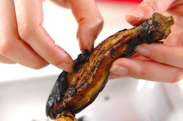 焼きナスと焼き油揚げの作り方の手順3