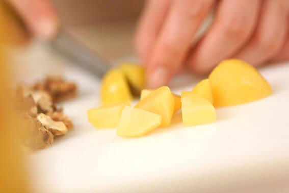 栗とクルミのブラウニーの作り方の手順3