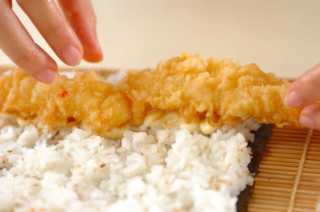 天ぷらのり巻きの作り方の手順3