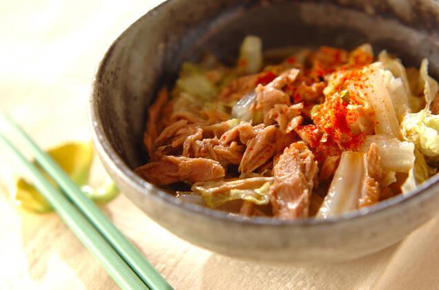 白菜とツナのサッと煮