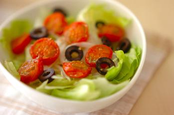 焼きトマトのサラダ