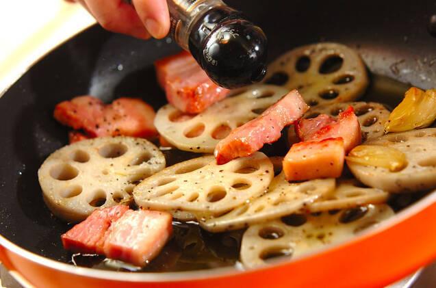 レンコンのオイル煮の作り方の手順4