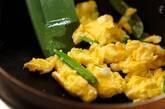 キヌサヤの卵炒めの作り方2