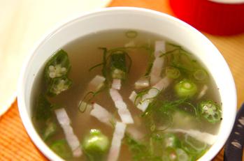 オクラの中華スープ