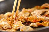 タケノコと豚の甘辛炒めの作り方1