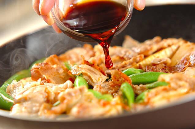 タケノコと豚の甘辛炒めの作り方の手順6