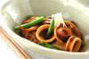 イカと焼き豆腐のショウガ煮の作り方の手順