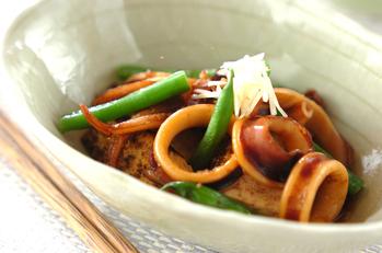 イカと焼き豆腐のショウガ煮