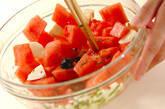 スイカのサラダの作り方1