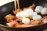 豚肉と玉コンニャクのうま煮の作り方1