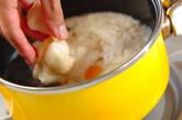 落とし卵とジュンサイのお吸い物の作り方5