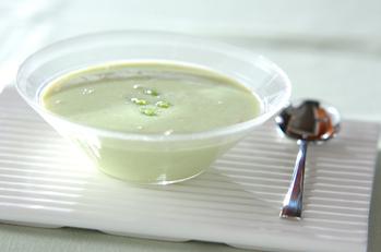 枝豆とカニの冷製和風スープ