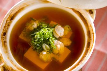 ハマグリ湯豆腐