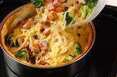 ベーコンとチョリソー、お豆のキッシュの作り方6