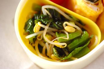 小松菜と豆モヤシの和え物