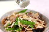 豚肉とキヌサヤの塩炒めの作り方3