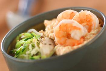 明太子豆腐丼